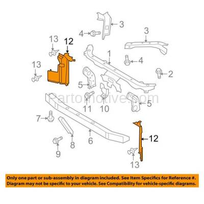 Aftermarket Replacement - RSP-1647R 2007-2012 Nissan Versa (1.6, 1.6 Base, 1.8 S, 1.8 SL, S, SL) Radiator Support Side Air Duct Primed Made of Steel Right Passenger Side - Image 3