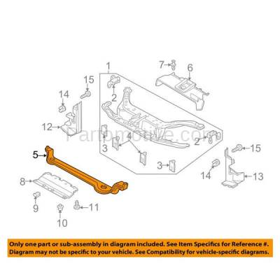 Aftermarket Replacement - RSP-1194 2000-2007 Ford Focus (Hatchback & Sedan & Wagon) Front Radiator Support Assembly Lower Crossmember Tie Bar Primed Made of Steel - Image 3