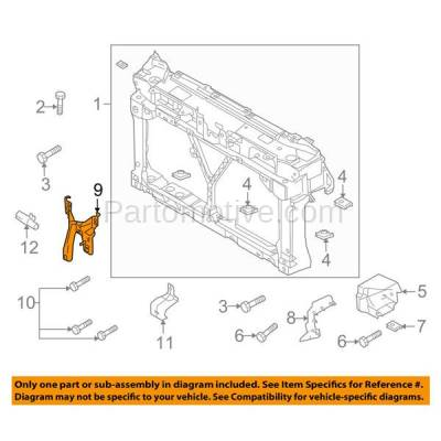 Aftermarket Replacement - RSP-1487 2010-2013 Mazda 3 (GS-SKY, GS, GT, GX, i, Mazdaspeed, S, Sport) Front Radiator Support Center Hood Latch Lock Support Bracket Steel - Image 3