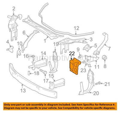 Aftermarket Replacement - RSP-1519 2006-2011 Mercedes-Benz CLS-Class (CLS500/CLS550/CLS55 AMG/CLS63 AMG) Front Radiator Support Center Hood Latch Lock Support - Image 3