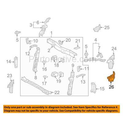 Aftermarket Replacement - RSP-1778L 2010-2015 Toyota Prius & 2012-2015 Prius Plug-In 1.5L Front Radiator Support Reinforcement Bracket Panel Made of Steel Left Driver Side - Image 3