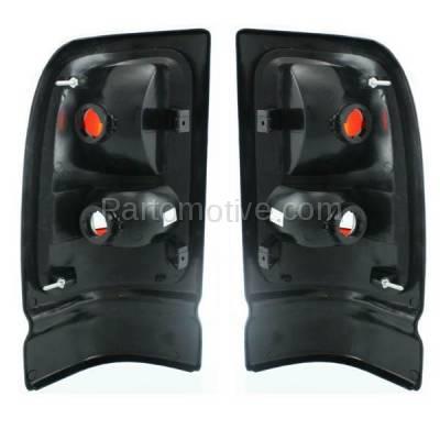 Aftermarket Auto Parts - TLT-1520LC & TLT-1520RC CAPA Dodge Ram Pickup Truck Taillight Taillamp Brake Light LENS Left & Right Set - Image 3