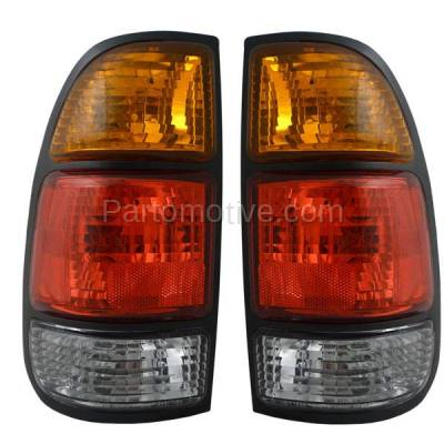 Aftermarket Replacement - TLT-1637L & TLT-1637R 00-04 Tundra Truck Taillight Taillamp Brake Light Lamp Left Right Side Set PAIR - Image 1