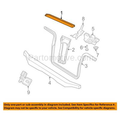 Aftermarket Replacement - RSP-1111 2002-2007 Jeep Liberty (2.4 & 2.8 & 3.7 Liter Engine) Front Radiator Support Upper Crossmember Tie Bar Primed Made of Steel - Image 3