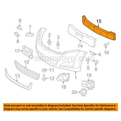 Aftermarket Replacement - BRF-1819F 2007-2011 Toyota Camry (USA Built) & 2009-2016 Toyota Venza (2.4 & 2.5 & 2.7 & 3.5 Liter) Front Bumper Impact Bar Crossmember Reinforcement Steel - Image 3