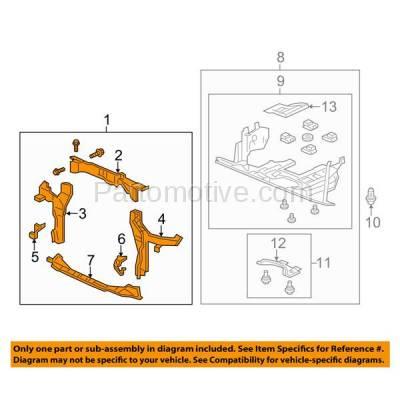Aftermarket Replacement - RSP-1363 2015-2016 Honda CR-V (Touring) Sport Utility 4-Door (2.4 Liter Engine) Front Center Radiator Support Core Assembly Primed Steel - Image 3