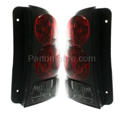 Aftermarket Auto Parts - TLT-1041LC & TLT-1041RC CAPA 02-09 Trailblazer Taillight Taillamp Brake Light Lamp Left & Right Pair Set - Image 2