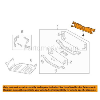 Aftermarket Replacement - RSP-1117 2007-2017 Jeep Patriot (2.0 & 2.4 Liter Engine) (without Remote Start) Front Radiator Support Upper Crossmember Tie Bar Primed Made of Steel - Image 3
