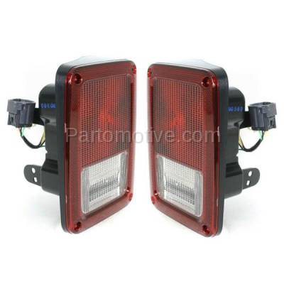 Aftermarket Auto Parts - TLT-1406LC & TLT-1406RC CAPA 07-13 Wrangler Taillight Taillamp Rear Brake Light Lamp Left Right Set PAIR - Image 2