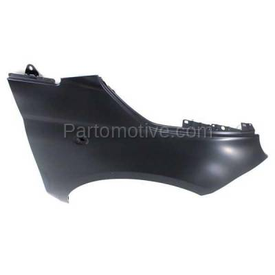 Aftermarket Replacement - FDR-1304RC CAPA 2012-2019 Fiat 500 (1.4L Engine & Electric) (USA Type) Front Fender Quarter Panel (without Molding Holes) Primed Steel Right Passenger Side - Image 2