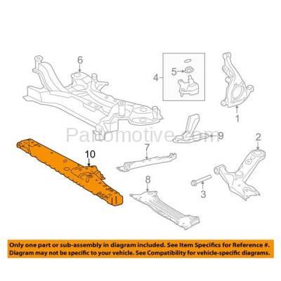 Aftermarket Replacement - RSP-1784 2006-2012 Toyota RAV4 (Base, Limited, Spor) (2.4 & 2.5 & 3.5 Liter) Front Radiator Support Lower Crossmember Tie Bar Primed Made of Steel - Image 3