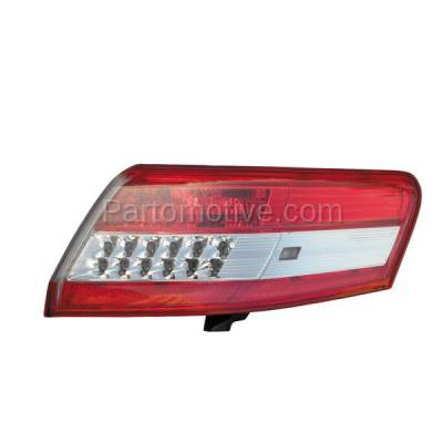 Aftermarket Auto Parts - TLT-1619RC CAPA 10-11 Camry Taillight Taillamp Rear Brake Outer Light Lamp Passenger Side - Image 1