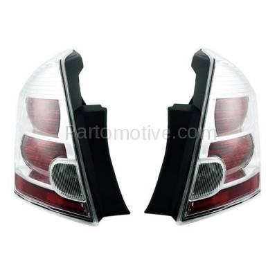 Aftermarket Auto Parts - TLT-1303LC & TLT-1303RC CAPA 07-09 Sentra 2.0L Taillight Taillamp Brake Light Lamp Left & Right Set PAIR - Image 2