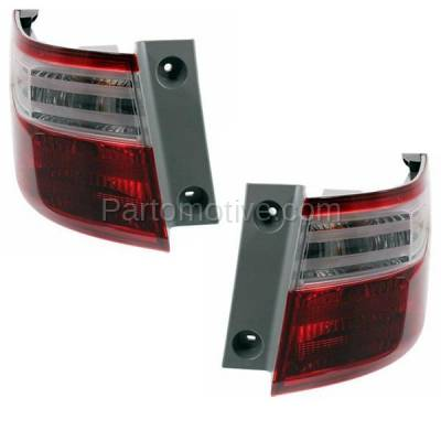 Aftermarket Auto Parts - TLT-1638LC & TLT-1638RC CAPA 11-13 Odyssey Taillight Taillamp Brake Light Outer Lamp Left Right Set PAIR - Image 2