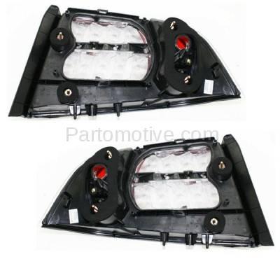 Aftermarket Auto Parts - TLT-1353LC & TLT-1353RC CAPA 07-08 Acura TL Base Taillight Taillamp Brake Light Lamp Left Right Set PAIR - Image 3