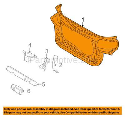Aftermarket Replacement - RSP-1014 2002-2005 Audi A4 (Base & Avant) Sedan & Wagon 1.8L Front Center Radiator Support Core Assembly Primed Made of Plastic with Steel - Image 3