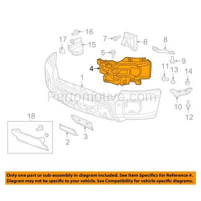 Aftermarket Replacement - BBK-1259L 2015-2019 GMC Sierra 2500HD & 3500HD Front Bumper Face Bar Outer Retainer Mounting Brace Bracket Made of Steel Left Driver Side - Image 3