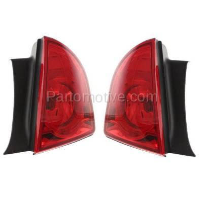 Aftermarket Auto Parts - TLT-1391LC & TLT-1391RC CAPA 08-12 Malibu LS LT Hybrid Taillight Taillamp Light Lamp Left Right Set PAIR - Image 2