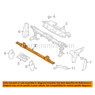 Aftermarket Replacement - RSP-1172 2015-2017 Ford Expedition & Lincoln Navigator (3.5 Liter V6) Front Radiator Support Lower Crossmember Tie Bar Panel Primed Made of Steel - Image 3
