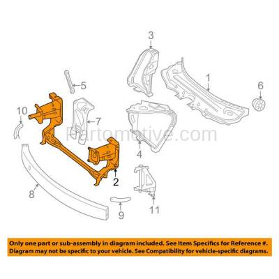 Aftermarket Replacement - RSP-1543 2006-2013 Mercedes-Benz R-Class (R320/R350/R500/R63 AMG) Front Radiator Support Lower Crossmember Tie Bar Panel Primed Steel - Image 3
