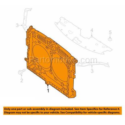 Aftermarket Replacement - RSP-1622 2013-2017 Nissan Pathfinder, 2013 Infiniti JX35, 2014-2018 QX60 (2.5 & 3.5 Liter Engine) Front Center Radiator Support Assembly Plastic - Image 3