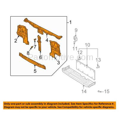 Aftermarket Replacement - RSP-1656 2000-2001 Nissan Xterra (SE, XE) Sport Utility 4-Door (2.4 & 3.3 Liter Engine) Front Center Radiator Support Core Assembly Made of Steel - Image 3