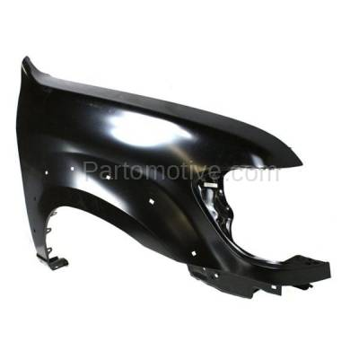 Aftermarket Replacement - FDR-1674RC CAPA 2005-2007 Toyota Sequoia Limited/SR5 (4.7 Liter V8 Engine) Front Fender Quarter Panel (with Flare Holes) Steel Right Passenger Side - Image 2