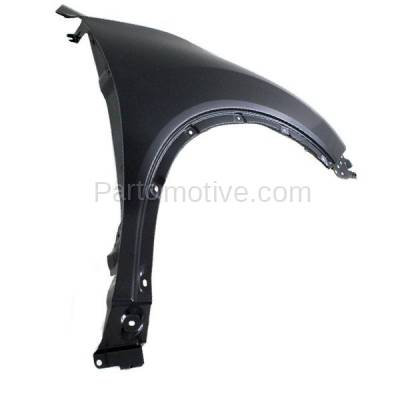 Aftermarket Replacement - FDR-1623RC CAPA 2014-2019 Nissan Rogue (2.0 & 2.5 Liter Engine) Front Fender Quarter Panel (without Molding Holes) Primed Steel Right Passenger Side - Image 2