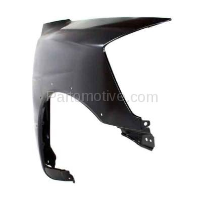 Aftermarket Replacement - FDR-1758R 2008-2015 Nissan Titan Pickup Truck USA Built (with Sport Appearance Package) Front Fender (with Flare Holes) Primed Steel Right Passenger Side - Image 2
