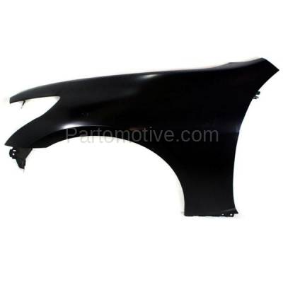 Aftermarket Replacement - FDR-1348LC CAPA 2007-2013 Infiniti G25/G35/G37 & 2015 Q40 (without Sport Package) Front Fender Quarter Panel Primed Steel Left Driver Side - Image 1