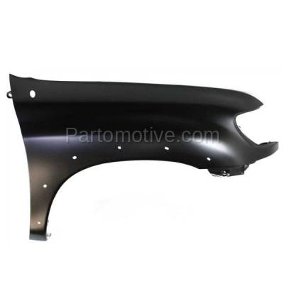 Aftermarket Replacement - FDR-1787RC CAPA 2000-2006 Toyota Tundra Pickup Truck (excluding Double Crew Cab) Front Fender (with Flare Holes) Primed Steel Right Passenger Side - Image 1