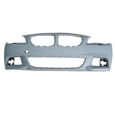 Aftermarket Replacement - BUC-1155FC CAPA 11-14 5-Series Front Bumper Cover Assy w/ M Package BM1000254 51118048670 - Image 1