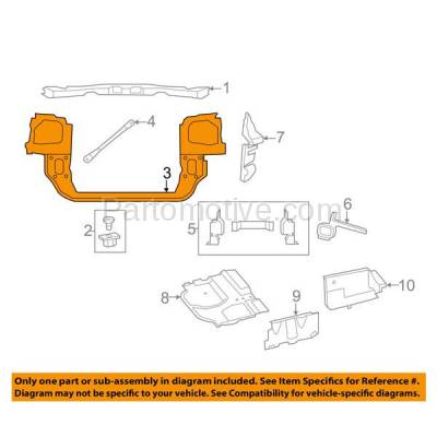 Aftermarket Replacement - RSP-1092 2008-2016 Chrysler Town & Country & 2008-2018 Dodge Grand Caravan Front Lower Radiator Support Core Closure Panel Assembly Primed Plastic - Image 3