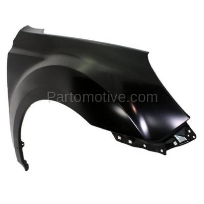 Aftermarket Replacement - FDR-1543RC CAPA 2010-2014 Subaru Outback (2.5 & 3.6 Liter Engine) Front Fender Quarter Panel (without Molding Holes) Steel Right Passenger Side - Image 2