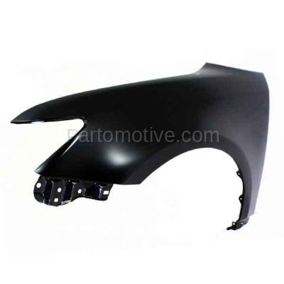 Aftermarket Replacement - FDR-1749LC CAPA 2011-2016 Scion tC (2-Door Coupe) 2.5L Front Fender Quarter Panel (without Molding Holes) Primed Steel Left Driver Side - Image 2