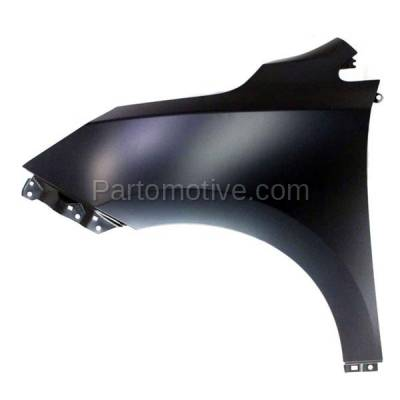 Aftermarket Replacement - FDR-1785LC CAPA 2010-2015 Hyundai Tucson (2.0L & 2.4L) Front Fender without Turn Signal Light Hole (without Molding Holes) Primed Steel Left Driver Side - Image 1