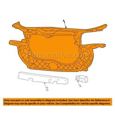 Aftermarket Replacement - RSP-1015 2002-2005 Audi A4 & A4 Quattro (Avant, Base) 3.0 Liter V6 (Sedan & Wagon) Front Radiator Support Core Assembly Panel Primed Plastic - Image 3