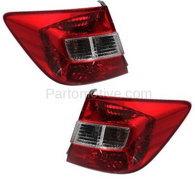 Aftermarket Auto Parts - TLT-1640LC & TLT-1640RC CAPA 2012 Civic Sedan Taillight Taillamp Brake Light Lamp Left & Right Set PAIR - Image 2