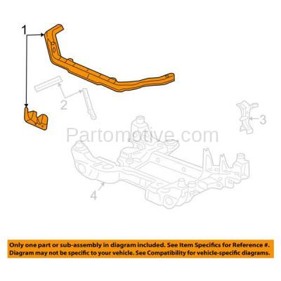 Aftermarket Replacement - RSP-1317 2004-2009 Cadillac SRX (3.6 & 4.6 Liter Engine) Front Radiator Support Upper Crossmember Tie Bar Panel Primed Made of Steel - Image 3