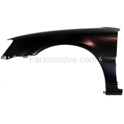 Aftermarket Replacement - FDR-1431LC CAPA 2000-2004 Subaru Legacy (2.5 Liter H4 Engine) Front Fender Quarter Panel (with Molding Holes) Primed Steel Left Driver Side - Image 1