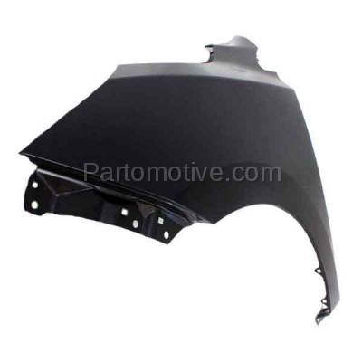 Aftermarket Replacement - FDR-1785L 2010-2015 Hyundai Tucson (2.0L & 2.4L) Front Fender without Turn Signal Light Hole (without Molding Holes) Primed Steel Left Driver Side - Image 2
