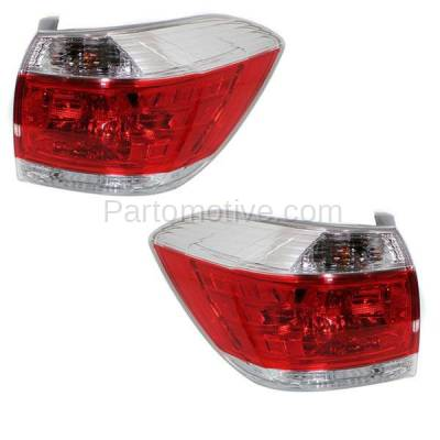 Aftermarket Auto Parts - TLT-1647LC & TLT-1647RC CAPA 11-13 Highlander Taillight Taillamp Brake Light Lamp Left & Right Set PAIR - Image 2