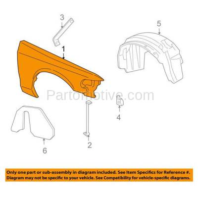 Aftermarket Replacement - FDR-1190RC CAPA 2003-2011 Ford Crown Victoria & Mercury Grand Marquis & Marauder Front Fender Quarter Panel Primed Steel Right Passenger Side - Image 3