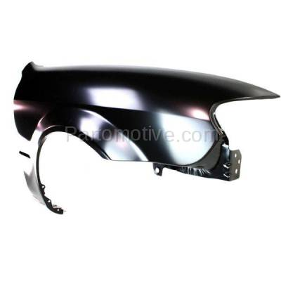 Aftermarket Replacement - FDR-1575R 2001-2003 Mazda Protege Front Fender Quarter Panel without Side Repeater Lamp (without MP3 Package) Primed Steel Right Passenger Side - Image 2