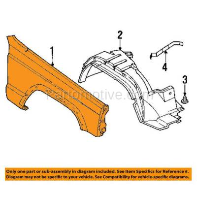 Aftermarket Replacement - FDR-1141RC CAPA 1997-2001 Jeep Cherokee Front Fender Quarter Panel (with Fender Flare Holes) without Antenna Hole Steel Right Passenger Side - Image 3
