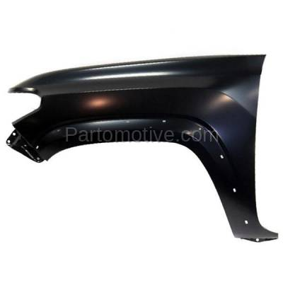 Aftermarket Replacement - FDR-1740L 2016-2020 Toyota Tacoma Pickup Truck (2WD & 4WD) Front Fender (with Wheel Opening Molding Holes) Primed Steel Left Driver Side - Image 1
