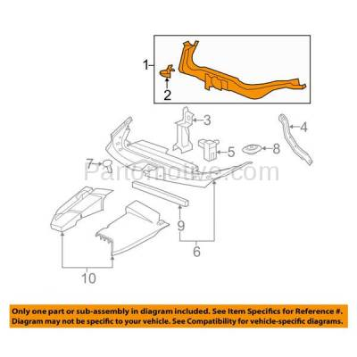 Aftermarket Replacement - RSP-1248 2008-2015 Cadillac CTS (Coupe & Sedan & Wagon) Front Radiator Support Upper Crossmember Tie Bar Panel Primed Made of Steel - Image 3
