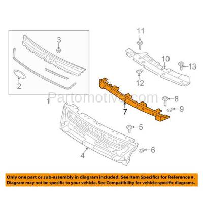 Aftermarket Replacement - RSP-1148 2013-2018 Ford C-Max & Escape Front Radiator Support Assembly Upper Crossmember Tie Bar Panel Primed Made of Plastic & Steel - Image 3