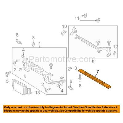 Aftermarket Replacement - RSP-1206 2013-2017 Ford Fusion & Lincoln MKZ (Sedan 4-Door) Front Radiator Support Lower Crossmember Tie Bar Panel Primed Made of Plastic - Image 3