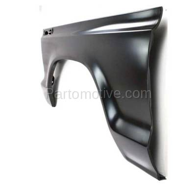 Aftermarket Replacement - FDR-1289L 1973-1979 Ford F-Series F100/F150/F250/F350/F500 Pickup Truck & 1978-1979 Bronco Front Fender Quarter Panel Steel Left Driver Side - Image 2